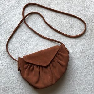 Urban Outfitters Kimchi Blue Suede Ruched Purse